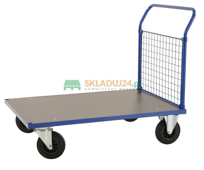 Dodatkowe Wózek platformowy z jedną burtą osiatkowaną, wym. 1000 x 700 x EU17